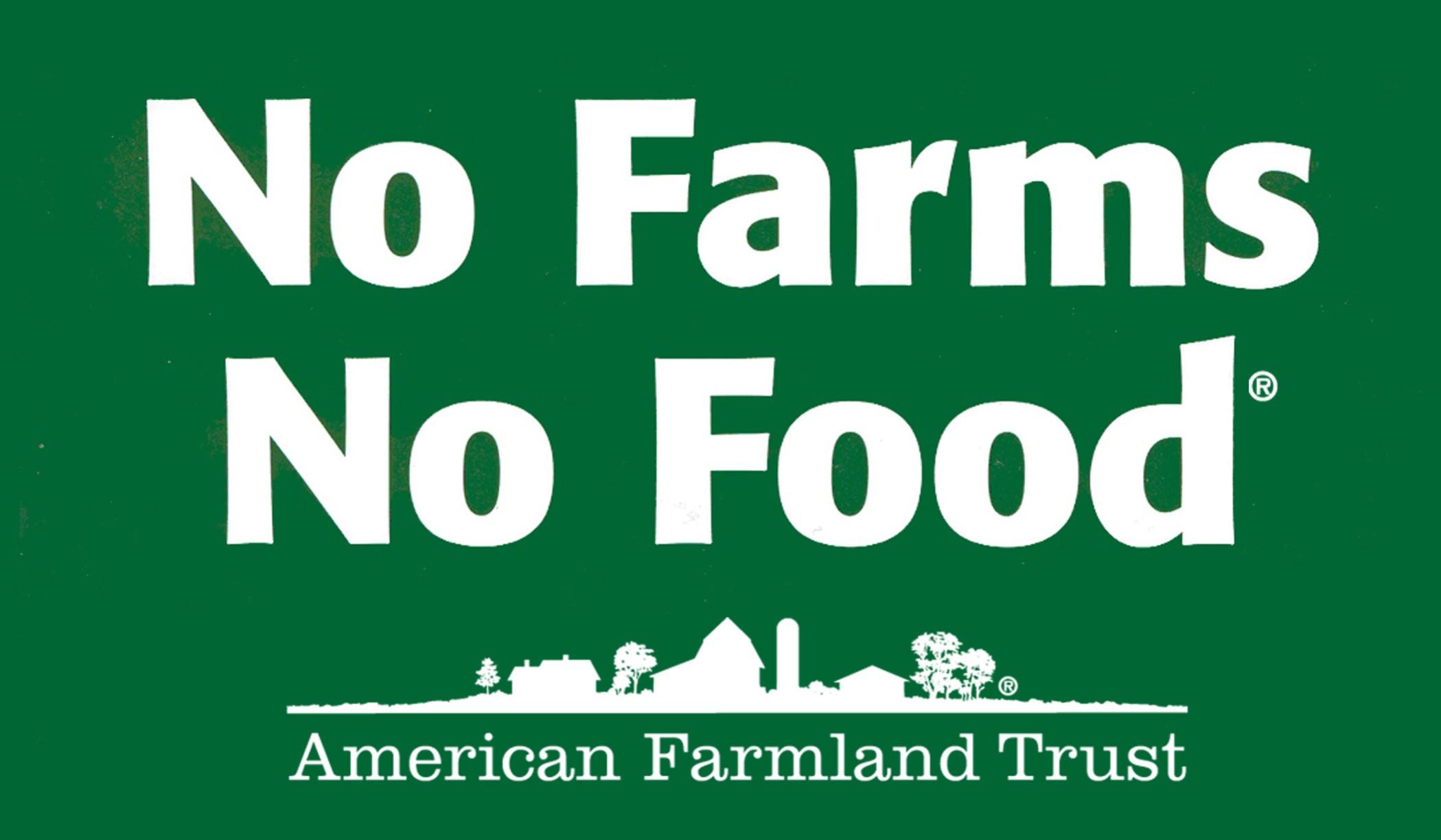 No Farms, No Food Bumper Sticker Sign Up page